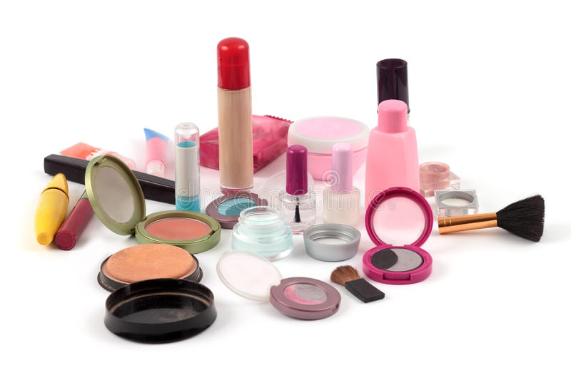 Make up colection stock photos