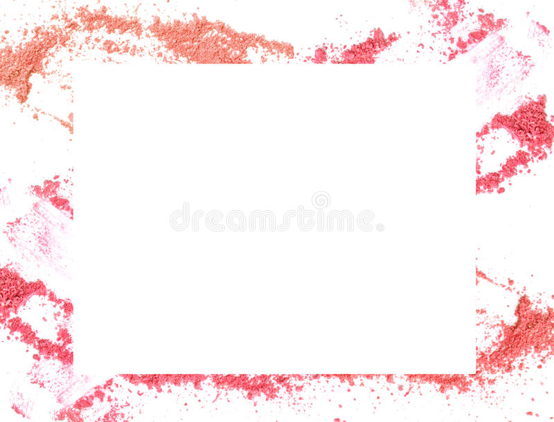Make-up color frame on white background. stock photos