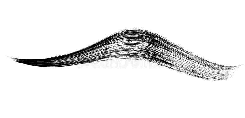 Make-up cosmetic mascara brush stroke on white. Vector.  stock illustration