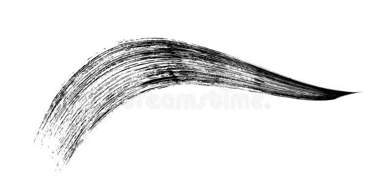 Make-up cosmetic mascara brush stroke on white. Vector.  vector illustration