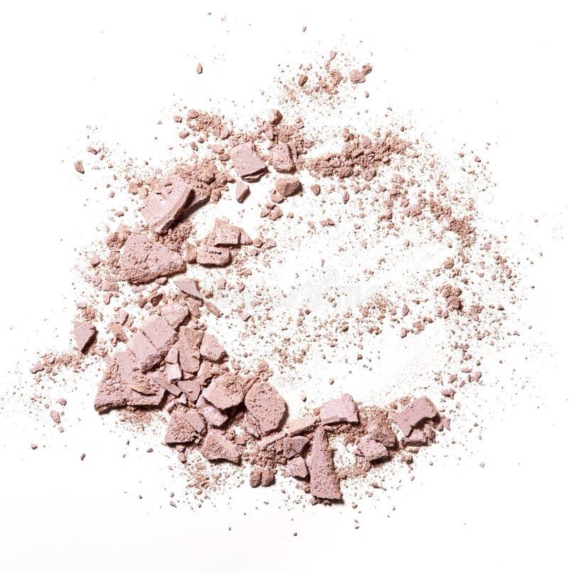 Make up crushed powder stock images