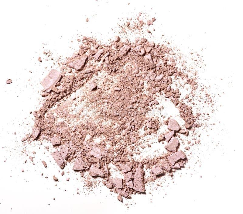 Make up crushed powder stock image