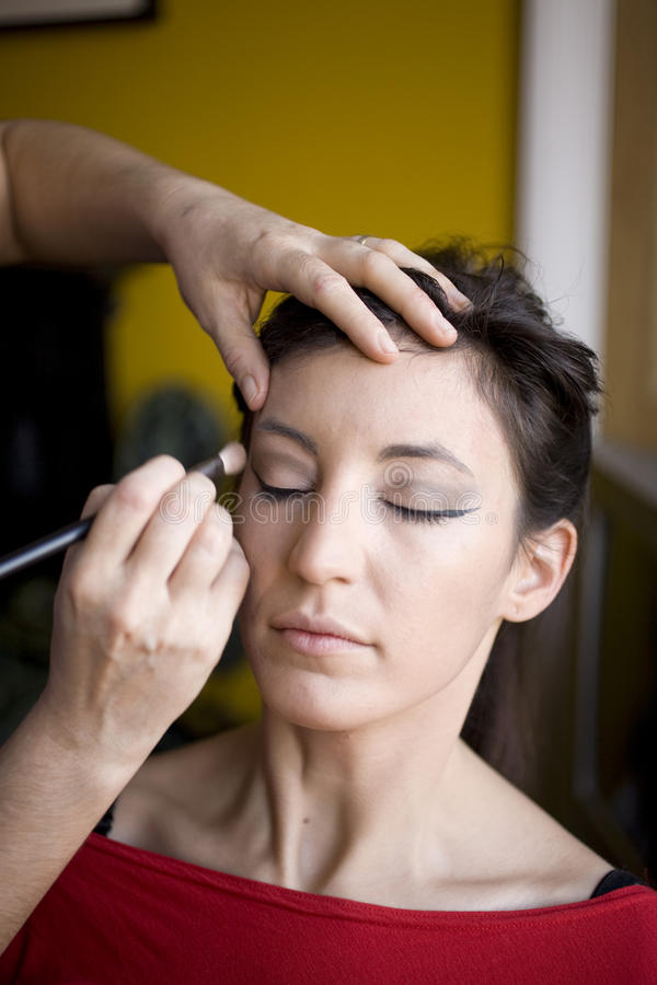 Download Make Up Done stock image. Image of concentration, brushing - 11446533