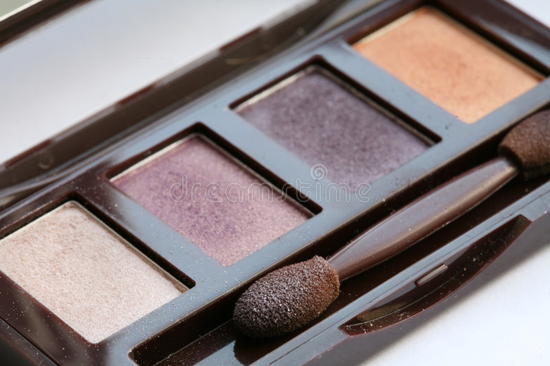 Make up. eye shadow. Background stock images