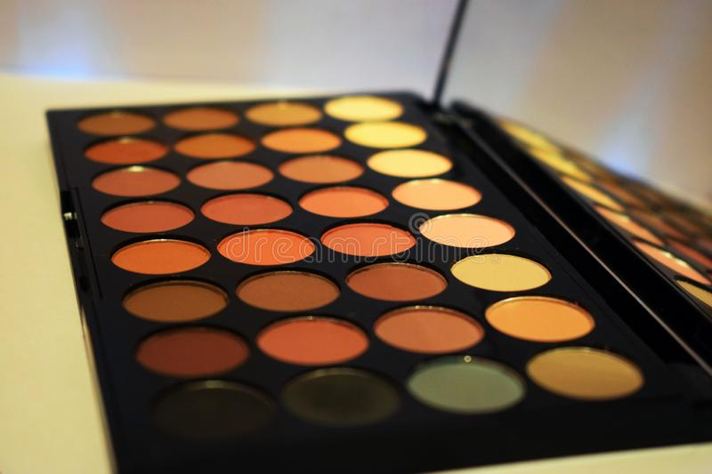Make up - eyeshadow palette stock image