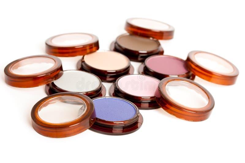 Make-up eyeshadows isolated royalty free stock images