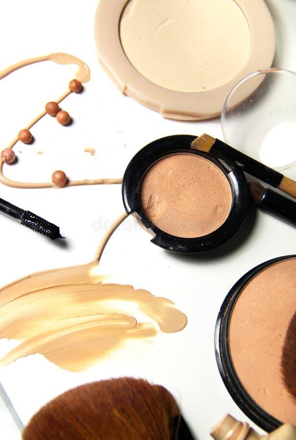 Free Make-up, Foundation And Brushes Stock Image - 60688691