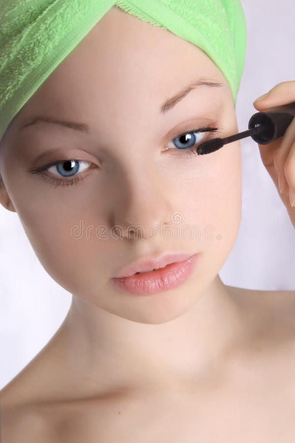 Make-up girl 1 stock images