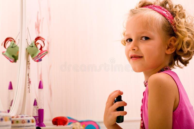 Make up girl stock image