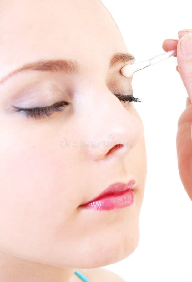 Make-up girl royalty free stock photo