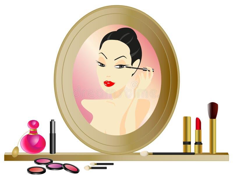 Make-up Mirror vector illustration