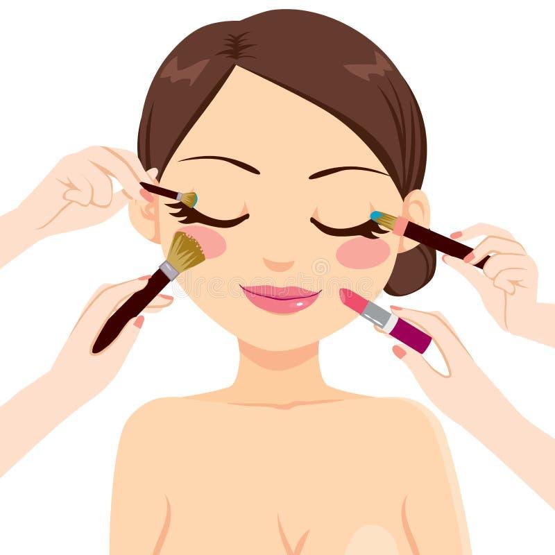 Make Up Model stock illustration