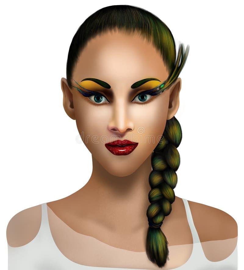 Make-up op een mooie vrouw stock foto's