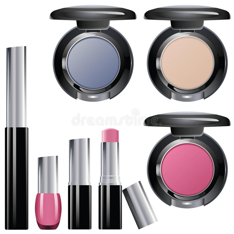 Download Make Up Packages stock vector. Image of good, metal, glamour - 13501422
