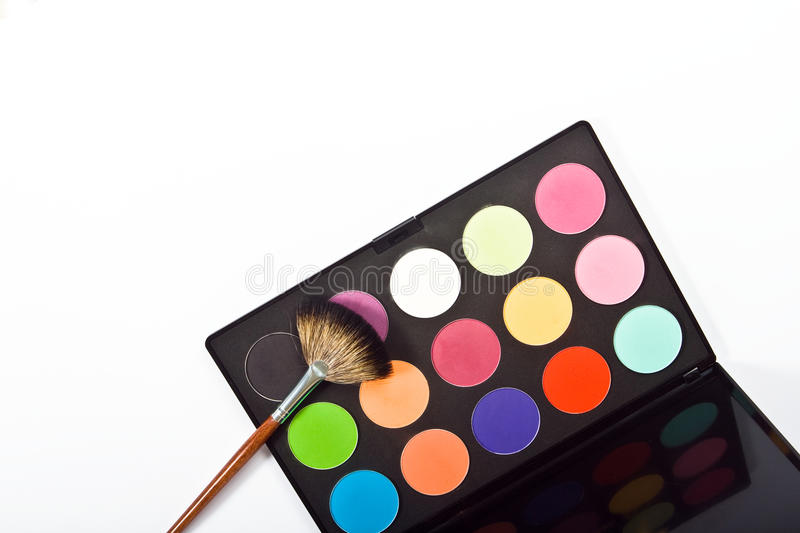 Download Make-up palette stock photo. Image of brushes, brown - 14225428