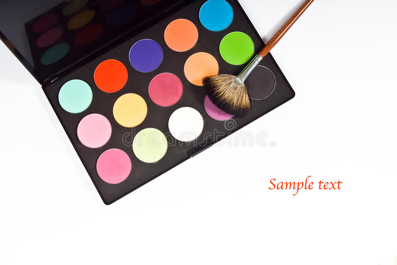 Download Make-up palette stock image. Image of colorful, brush - 15497439