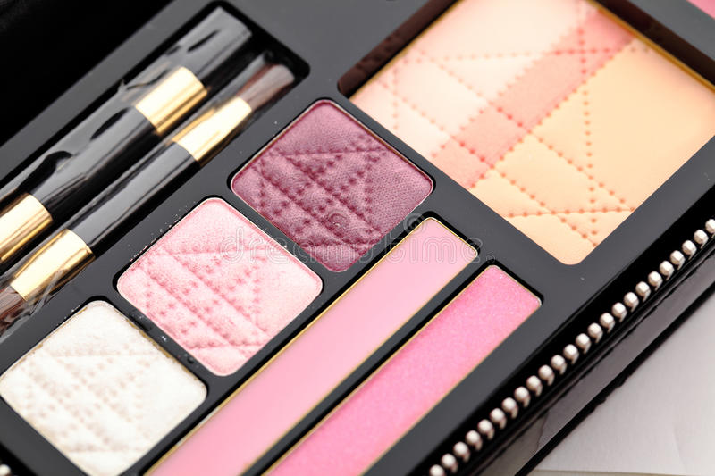 Download Make up palette stock image. Image of care, drawing, cosmetic - 24677531