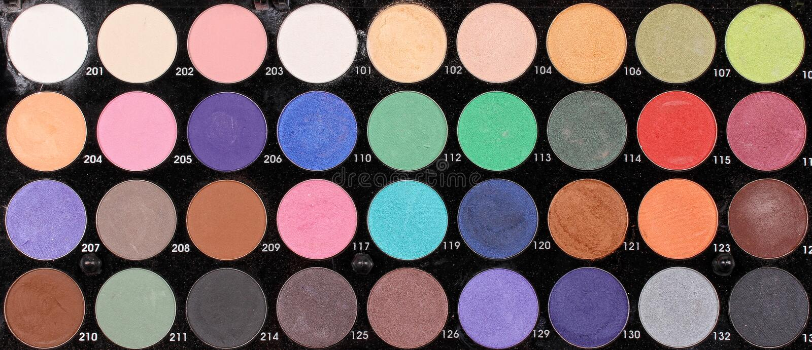 Download Make up palette stock image. Image of eyeshadows, many - 28658127