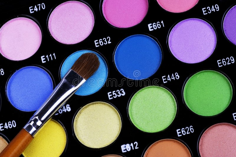 Download Make-up Palette stock image. Image of cosmetics, board - 2881265