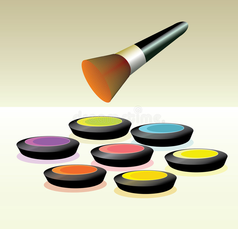 Make-up palette stock image