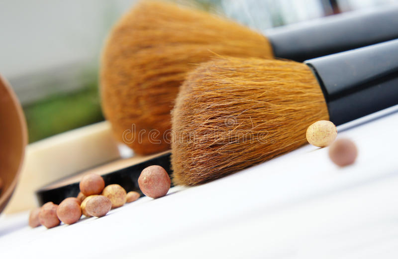 Download Make-up Palette And Brushes Stock Image - Image: 26818849