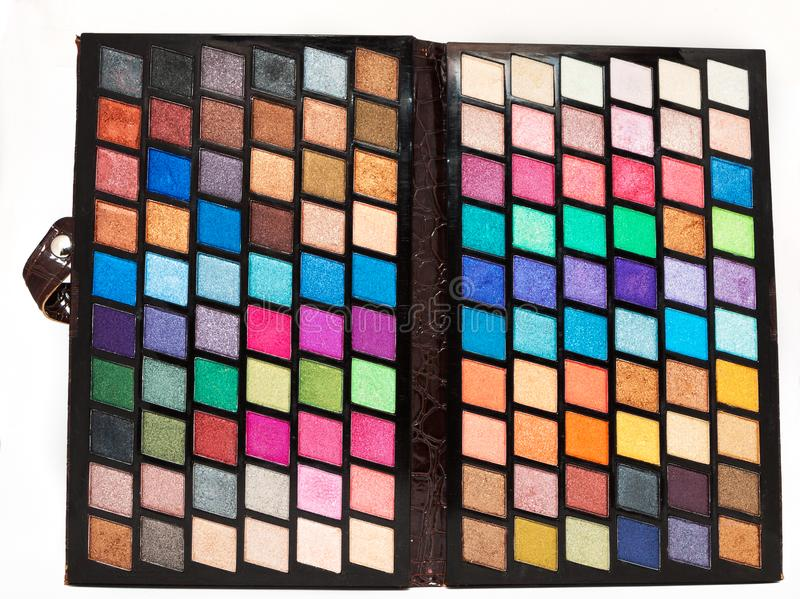 Make up palette isolate on a white background stock image