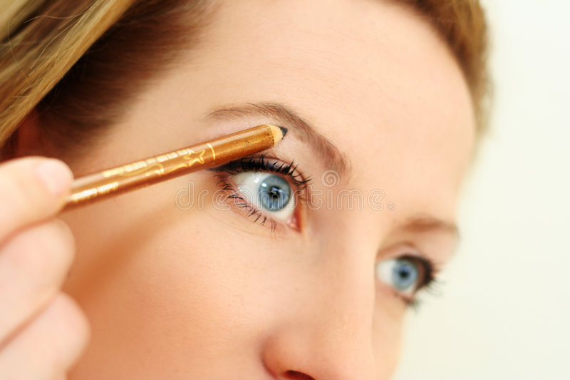 Download Make up with a pencil stock photo. Image of adult, beautiful - 1895632