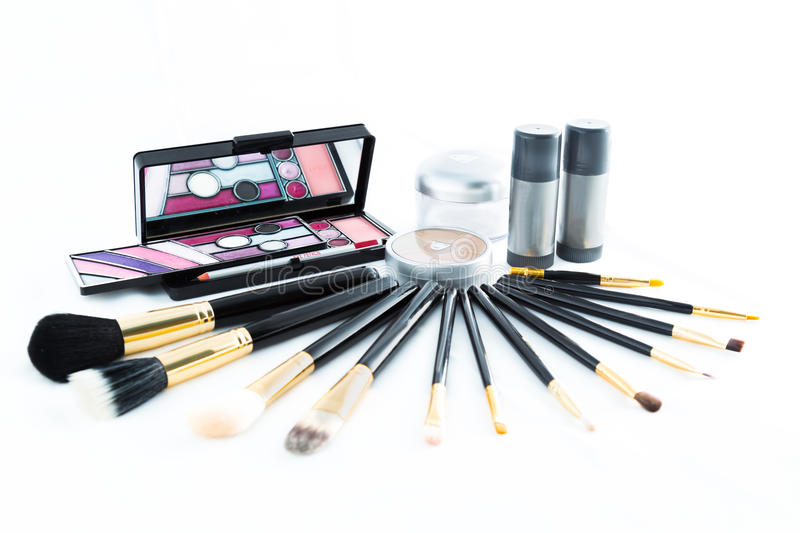 Make-up products stock images