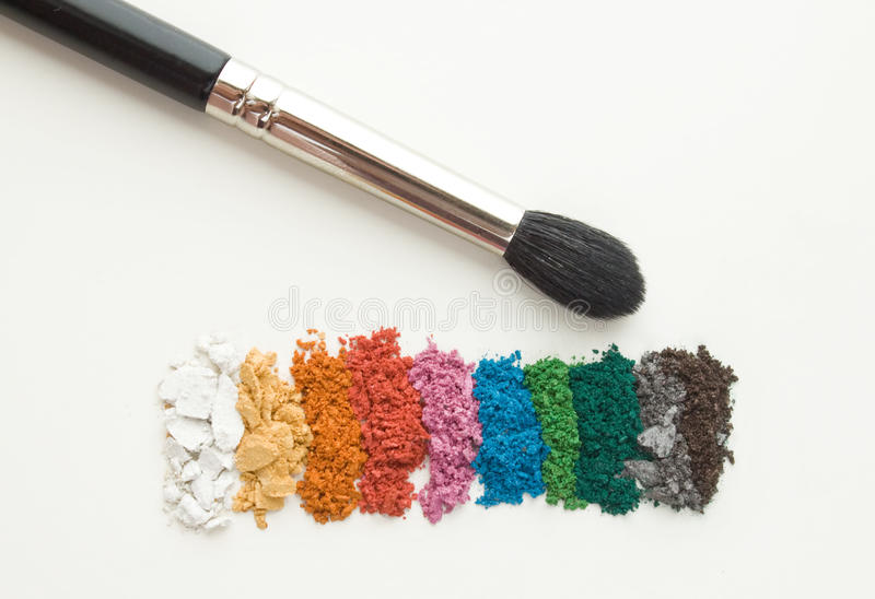 Make-up schadows stock afbeeldingen