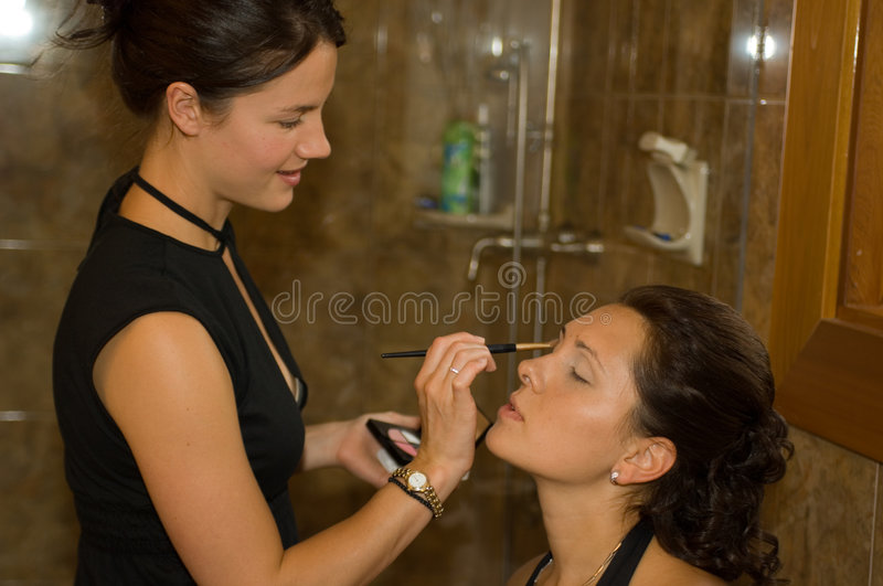 Make up session stock photo
