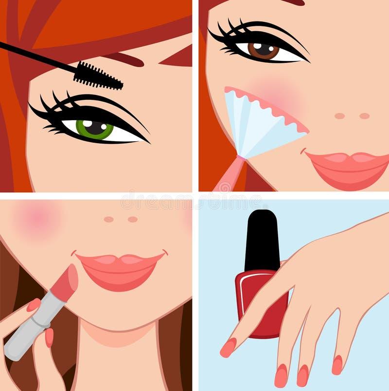 Make up set royalty free illustration