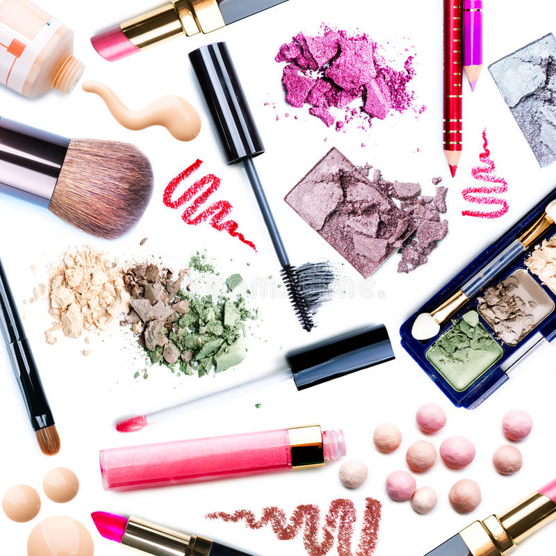 Free Make-up Set. Collage Stock Image - 26467341