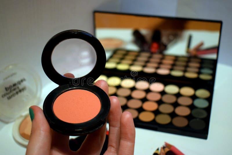 Make up - eyeshadow and powder royalty free stock images