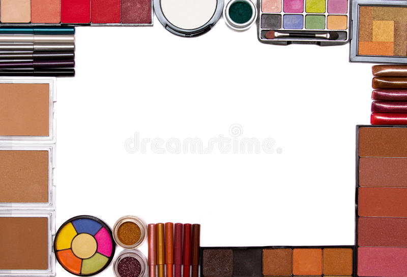 Make-up set frame royalty free stock photography