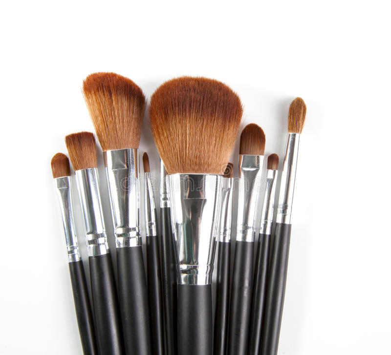 Make up tool white. Background stock photography