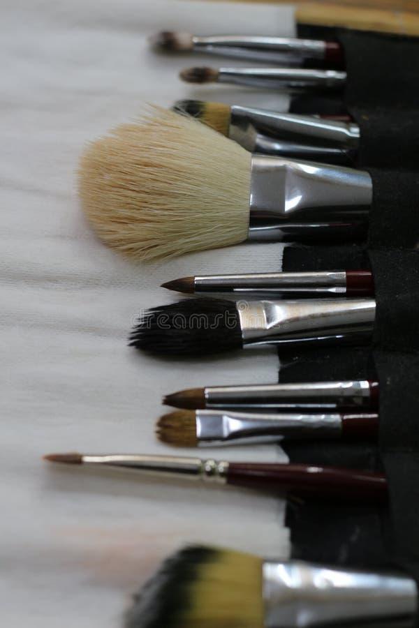 Make-up training royalty free stock photos