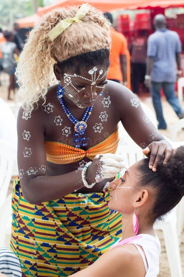 Make-up van vrouwen stock fotografie