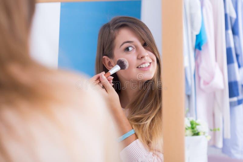 Make-up voor goede foto royalty-vrije stock fotografie