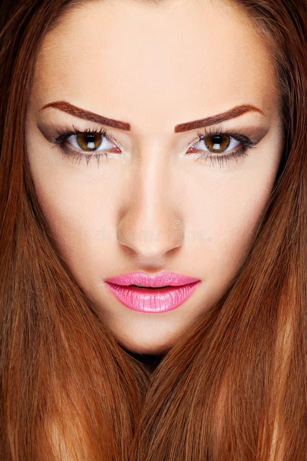 Make up on woman stock image