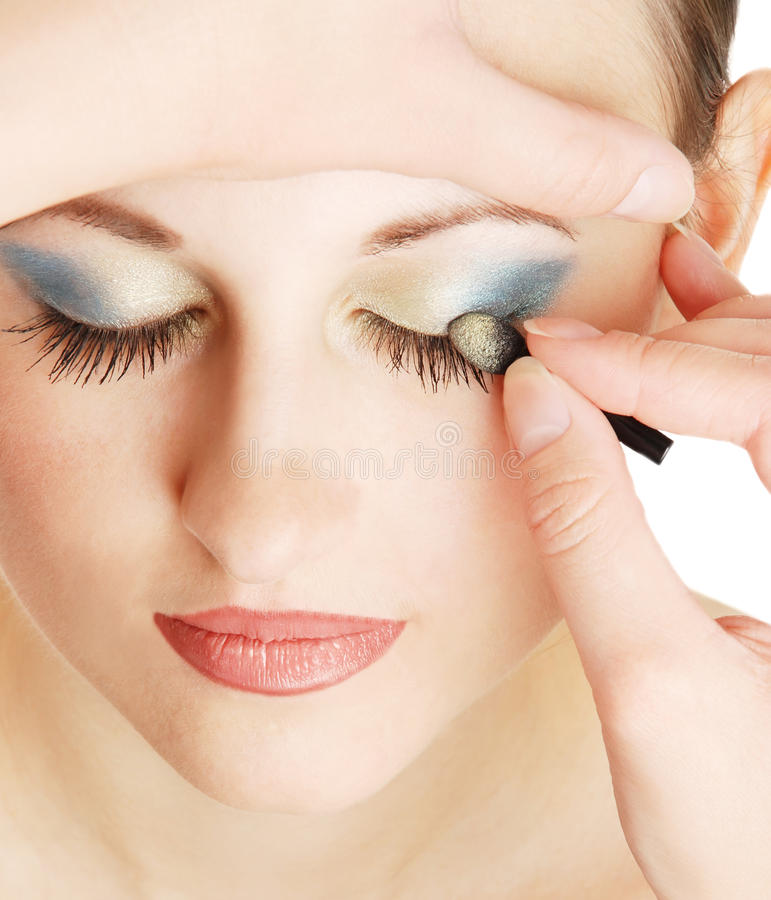 Make-up For The Young Girl Stock Photos