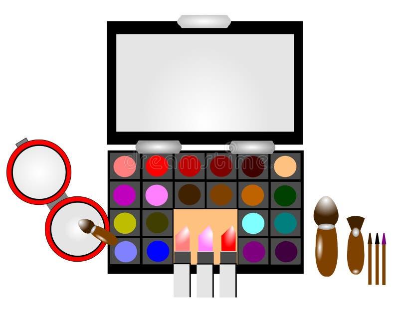 Make-upausrüstung lizenzfreie abbildung