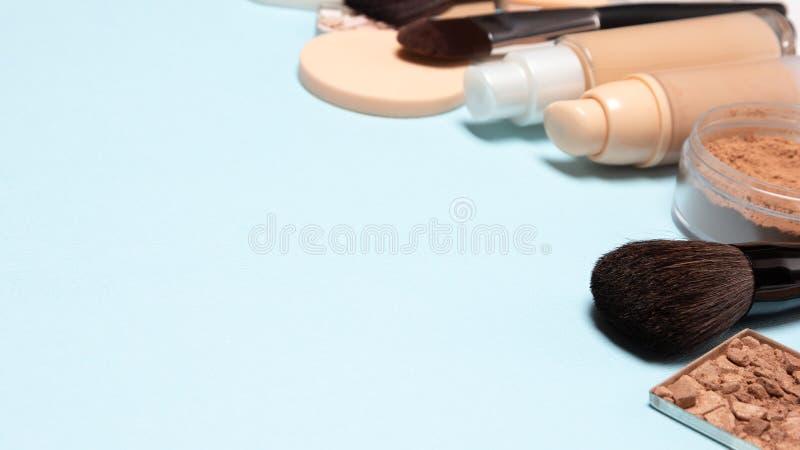 Make-uphintergrund mit freiem Raum für Text lizenzfreie stockfotos
