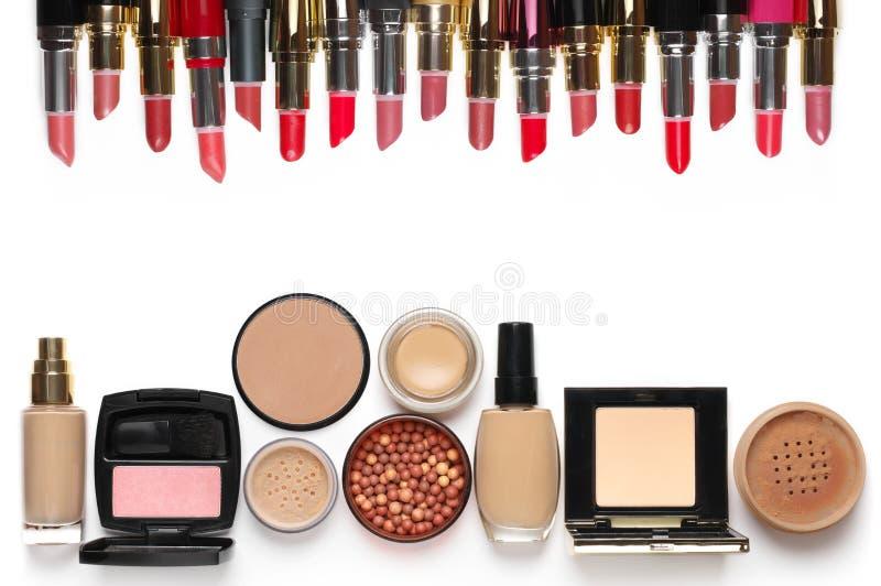 Make-upkosmetik eingestellt stockbild