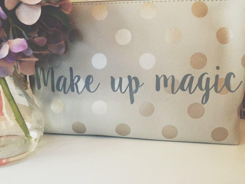 Make-upmagie stockbilder