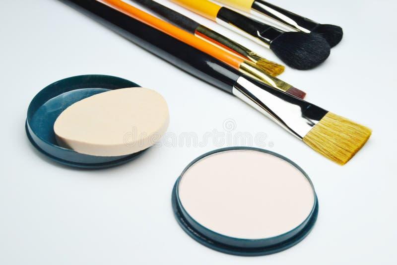 Make-upuitrusting royalty-vrije stock afbeelding