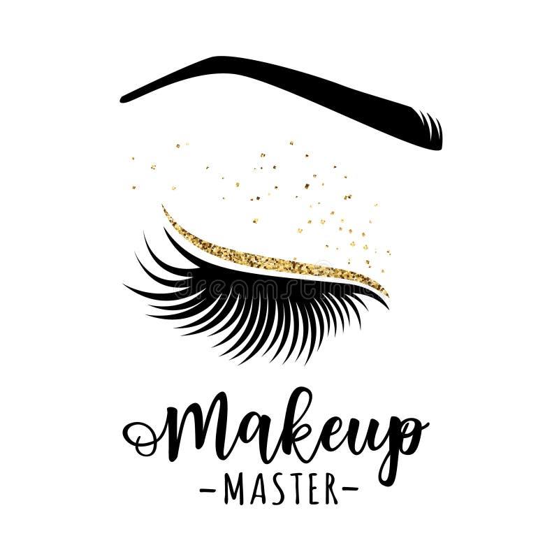 Make-upvorlagenlogo lizenzfreie abbildung