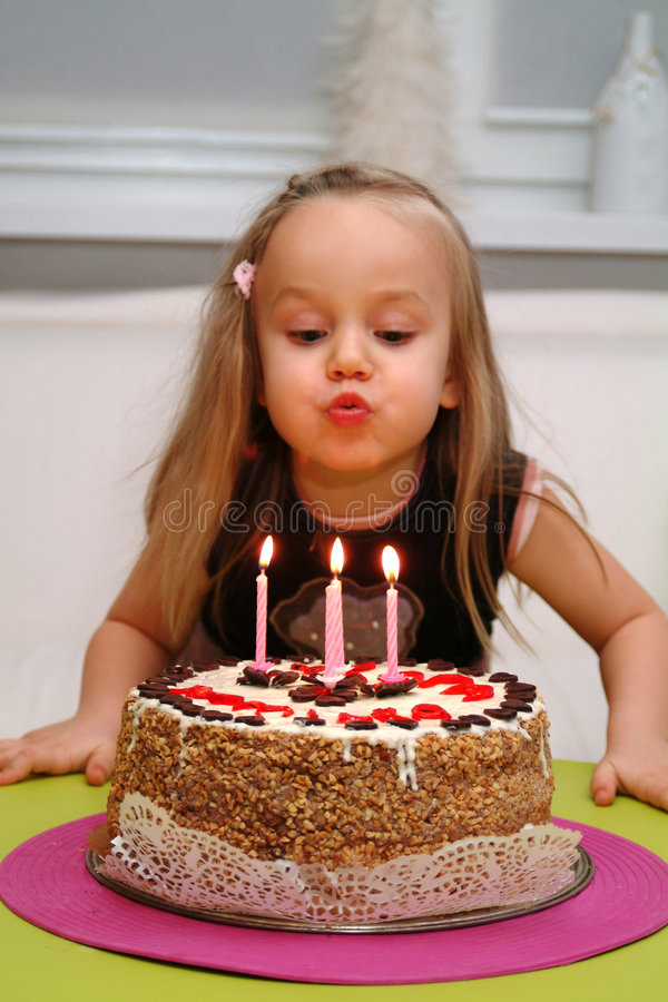 Download Make a Wish stock photo. Image of candle, blowing, preschooler - 2099580