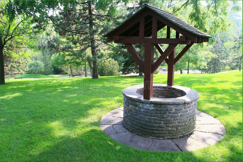 The make-a-wish-come-true Wishing Well. Wishes can come true for those at the Wishing Well royalty free stock images