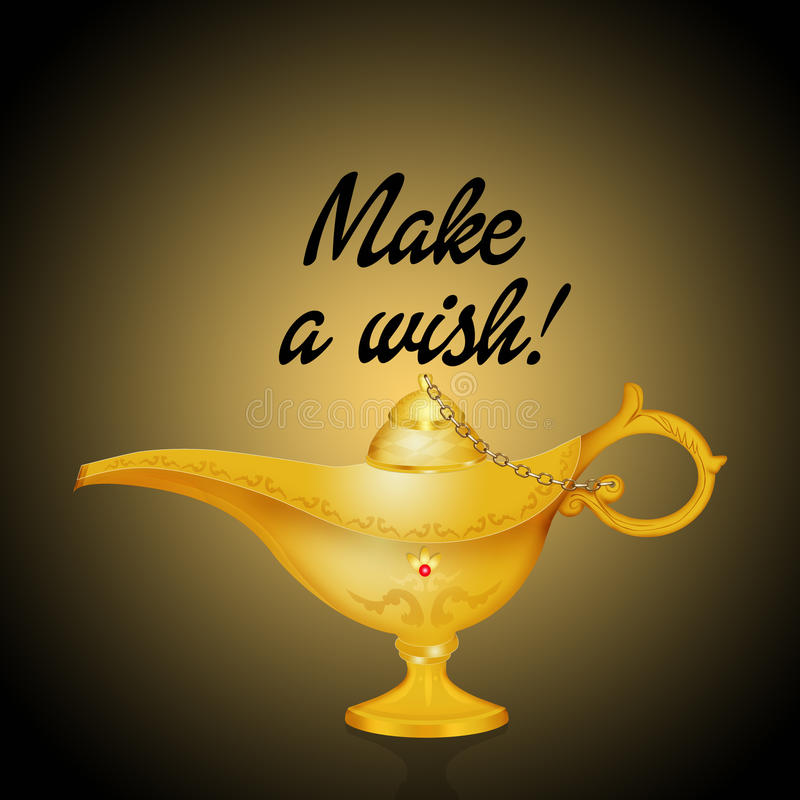 Download Make A Wish In The Magic Lamp Stock Illustration   Illustration Of  Dreamy, Mysterious