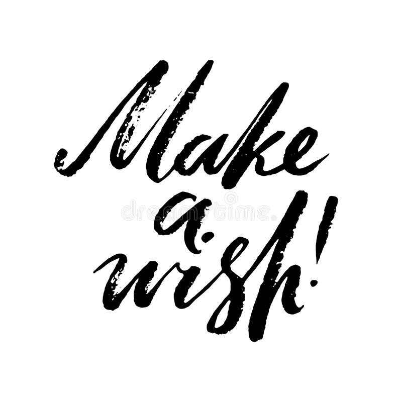 Download Make A Wish Words Hand Drawn Creative Calligraphy And Brush Pen Lettering Design
